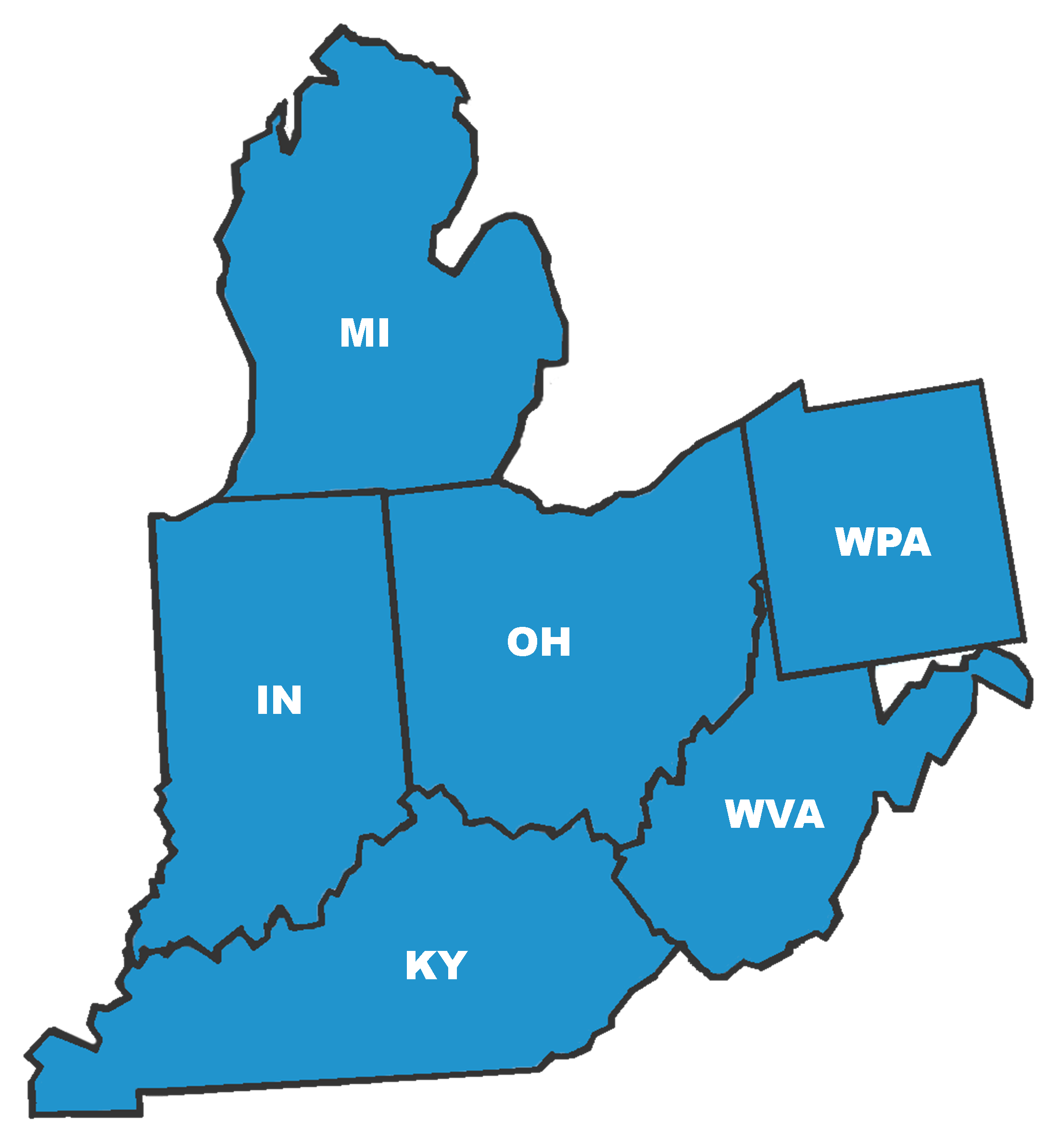 Michigan And Ohio Map.Company Covered Territory Byrne Associates