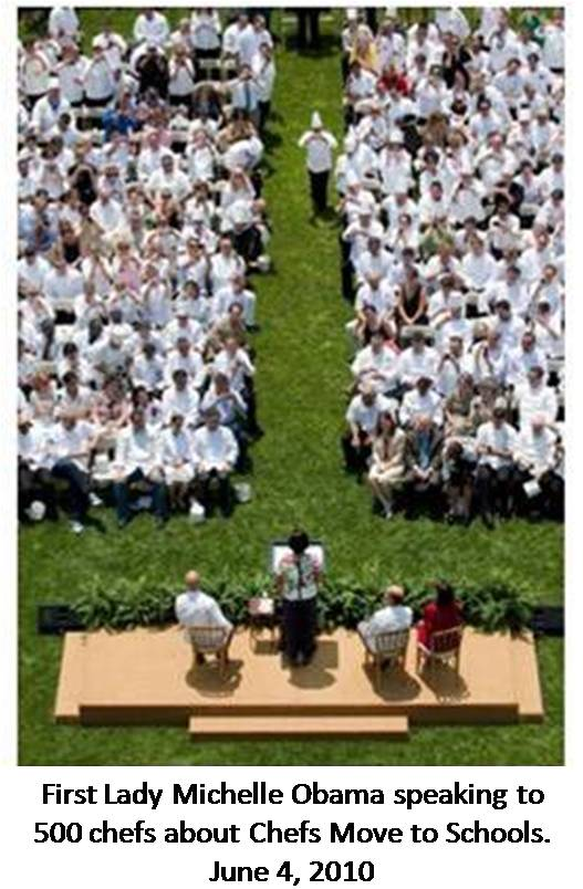 Image - Chefs Move to Schools - white house lawn