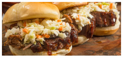 Kansas City Blue Smoke Brisket Sliders