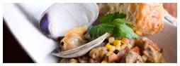 Barbecued Clams with Corn Salsa
