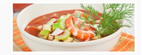 Chilled Shrimp & Cucumber Soup