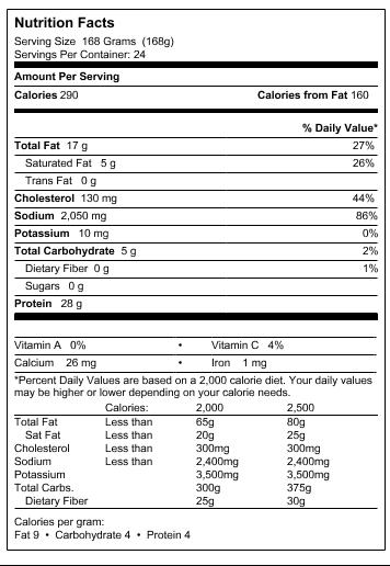 Wayne Farms - BUFFALOOS Fully Cooked Frozen Hot & Spicy Chicken Wings (9 lb.) - Wayne Farms LLC FactPanel_2457838_10038483226874