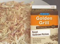 Golden Grill® Premium Russet Hashbrowns SKU 10084