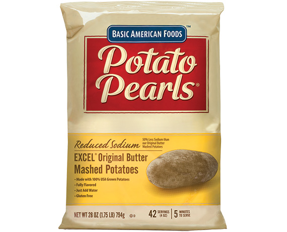 Potato Pearls Excel Original Er Mashed Reduced Sodium 504 Servings 4 Oz Per Case 12 28 Pch