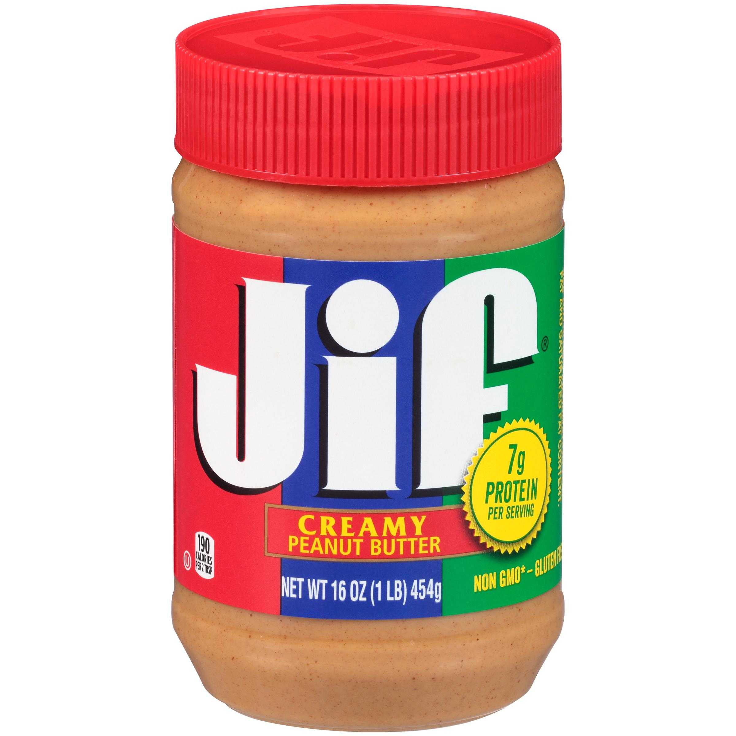 jif 16 oz creamy peanut butter - smucker away from home