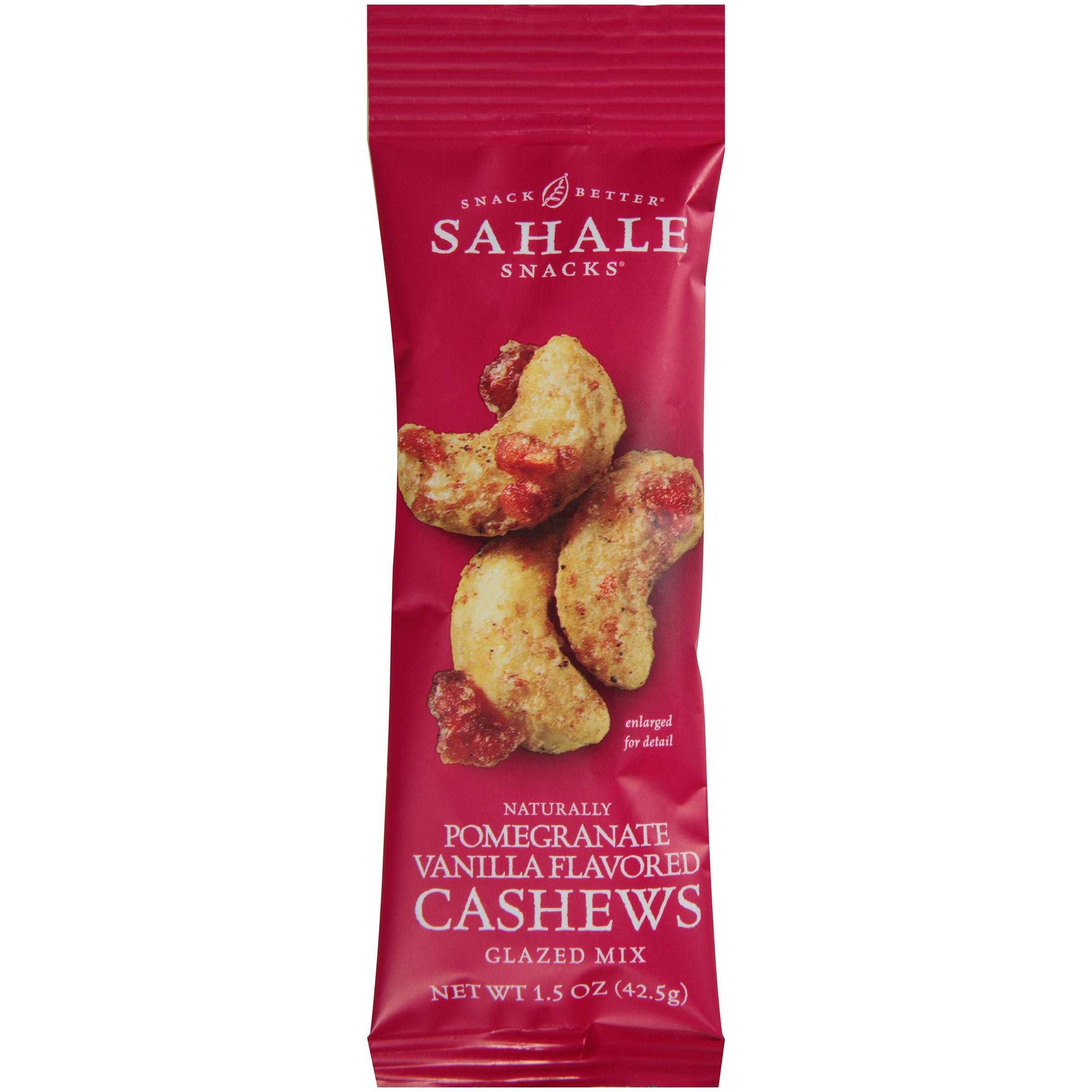 Sa 1 5 Oz Naturally Pomegranate Vanilla Flavored Cashews Glazed Mix