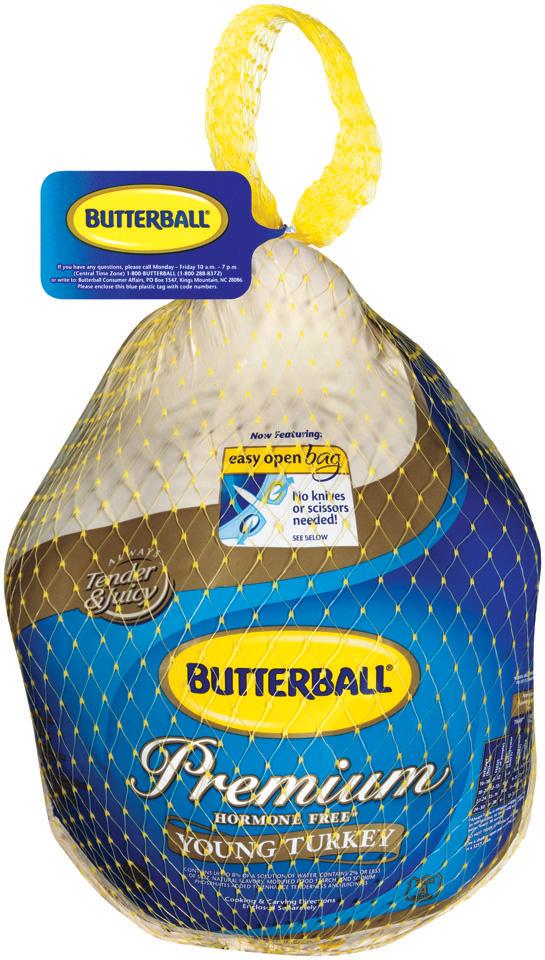 Butterball Frozen Turkey 20-22lbs USDA Grade A