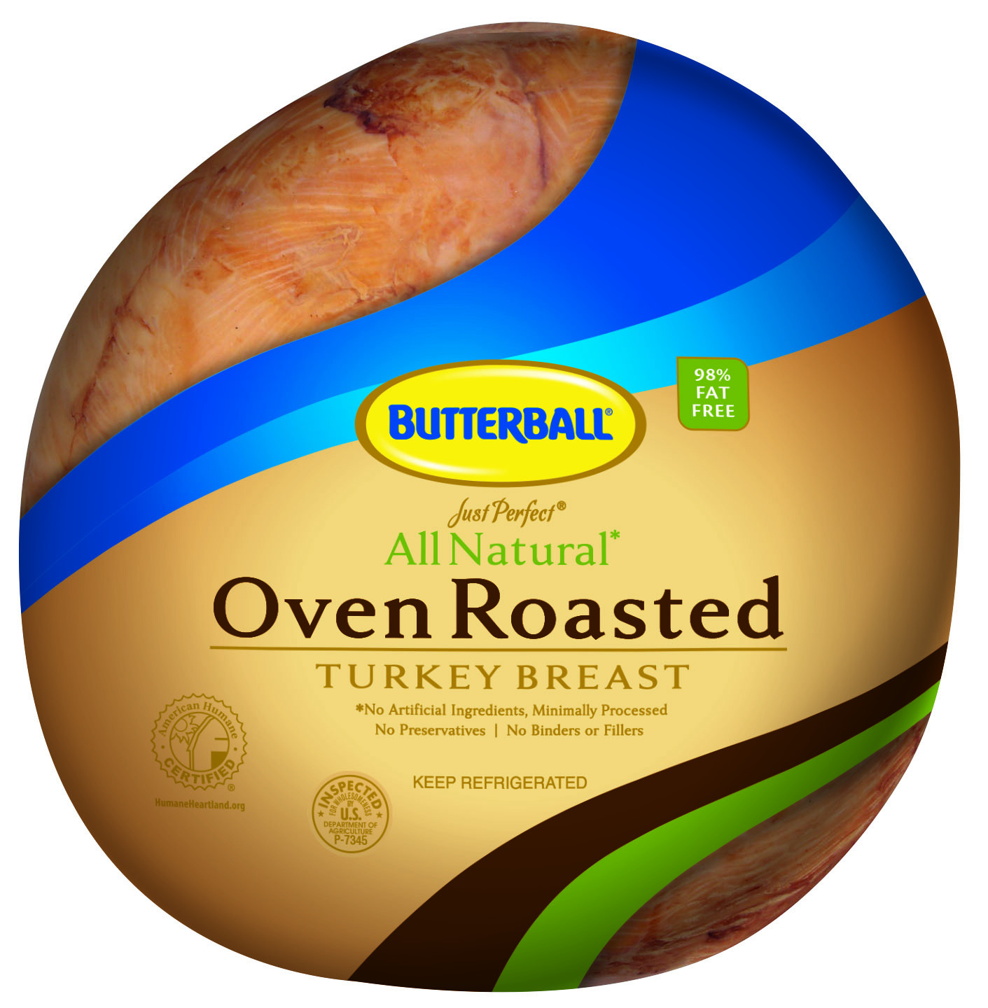 Just Perfect Handcrafted All Natural Oven Roasted Turkey Breast