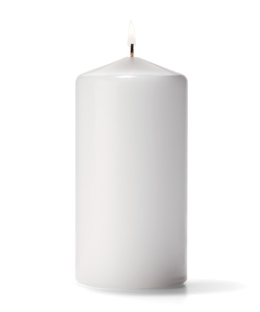 Product photo for White Pillar Candles