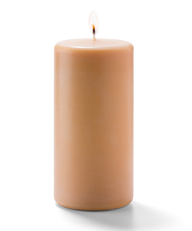 Product photo for Cappuccino Pillar Candles