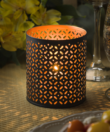 Monarch™ Perforated Metal Votive Lamp