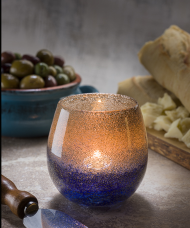 Laredo™  Bubble Glass Votive Lamp