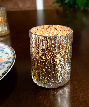 Rustic Mercury Glass Votive