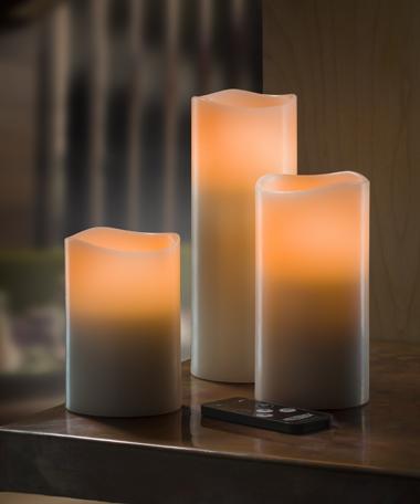 LED Wax Pillars