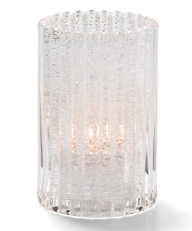 CLEAR JEWEL VERTICAL ROD GLASS CYLINDER LAMP