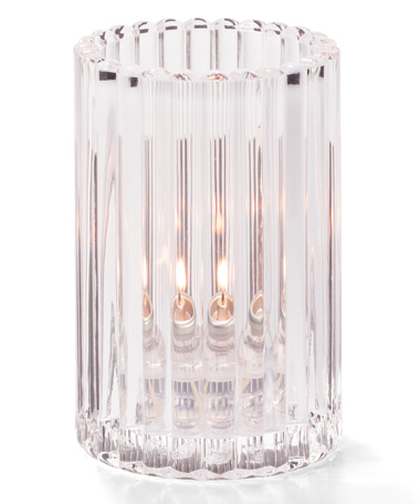 CLEAR VERTICAL ROD GLASS LAMP