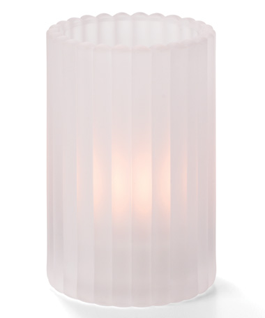 SATIN CRYSTAL VERTICAL ROD GLASS CYLINDER LAMP