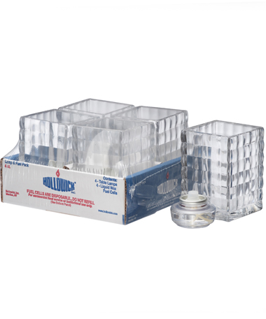 CLEAR OPTIC BLOCK GLASS LAMP SHELF PACK W/HD12 - 4/PACK