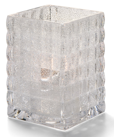 CLEAR JEWEL OPTIC  BLOCK GLASS LAMP