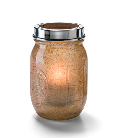 Antique Gold Firefly™ Jar with Tealight Cradle