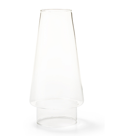 Clear Conical Glass Chimney