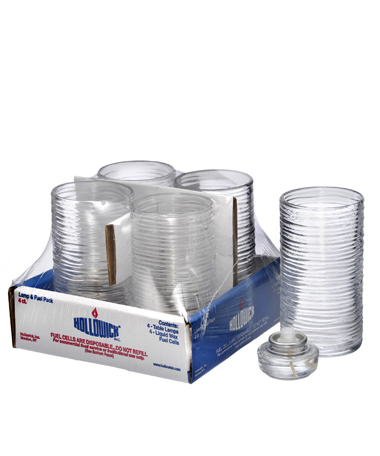 Clear Typhoon Mid-Size Cylinder Lamp Shelf Pack w/HD12 - 4/Pack