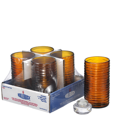 Amber Typhoon Mid-Size Cylinder Lamp Shelf Pack w/HD12 - 4/Pack