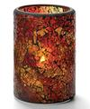 View details for Red & Gold Crackle™ Glass Cylinder Lamp