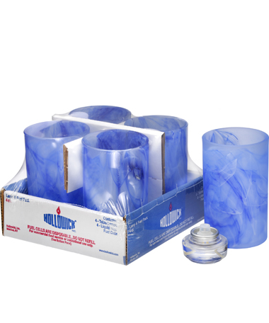 DARK BLUE WYSP CYLINDER GLASS LAMP SHELF PACK W/HD12 - 4PACK