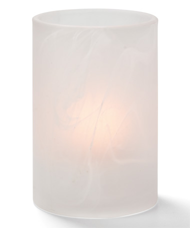 SATIN CRYSTAL WYSP CYLINDER GLASS LAMP