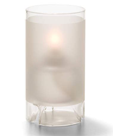 SATIN CRYSTAL LARGE GLASS CYLINDER LAMP