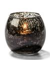 View details for Antique Black, Small Glass Bubble Tealight Lamp