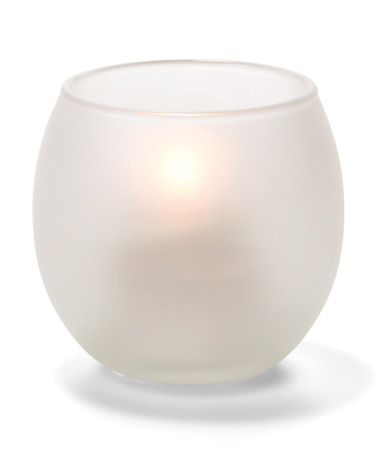 SATIN CRYSTAL, SMALL GLASS BUBBLE TEALIGHT LAMP