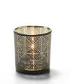 View details for Sussex™ Geometric Glass Votive Lamp (Black and Gold)