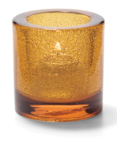 Amber Jewel, Round Thick Glass Tealight Lamp
