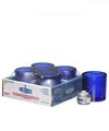 View details for Cobalt Blue Round Glass Thick Tealight Lamp Shelf Pack w/HD8 - 4/Pack