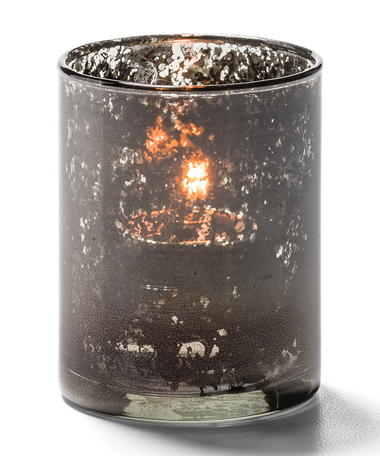 Antique Black, Tealight Glass Cylinder Lamp