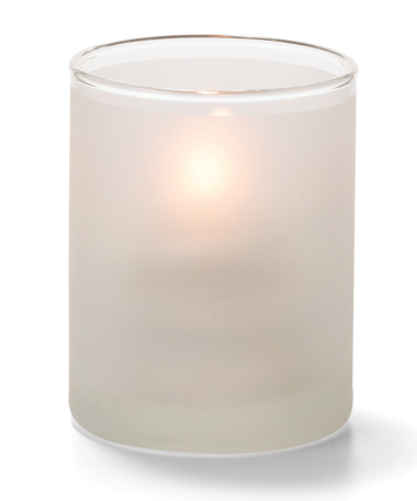 SATIN CRYSTAL, TEALIGHT GLASS CYLINDER  LAMP