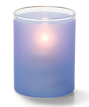 Satin Dark Blue, Tealight Glass Cylinder  Lamp