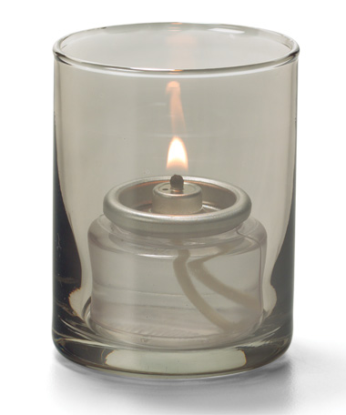 Smoke Lustre, Tealight Glass Cylinder  Lamp