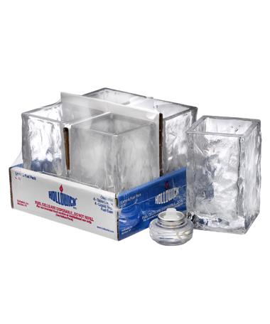 Glacier™ Votive (Clear Glass) Lamp Shelf Pack w/HD8 - 4/Pack
