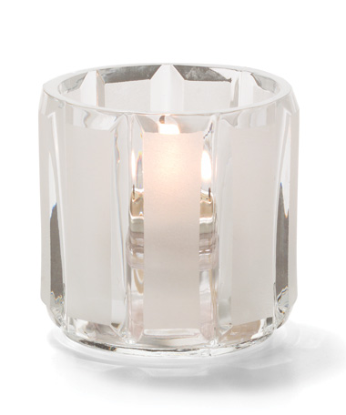 Crystal & Satin Glass Tealight Lamp