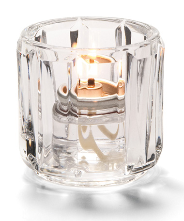 Clear Crystal Glass Tealight Lamp