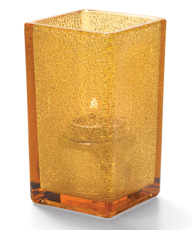 Amber Jewel Quad Glass Votive Lamp