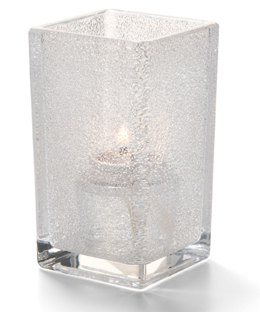 CLEAR JEWEL QUAD GLASS VOTIVE LAMP