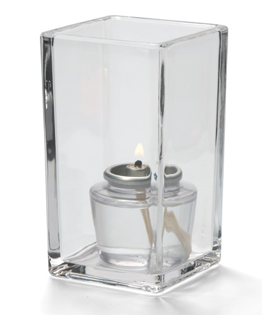 CLEAR QUAD GLASS VOTIVE LAMP