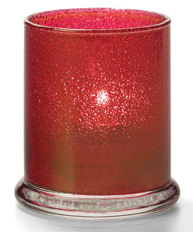 RUBY JEWEL GLASS VOTIVE COLUMN LAMP