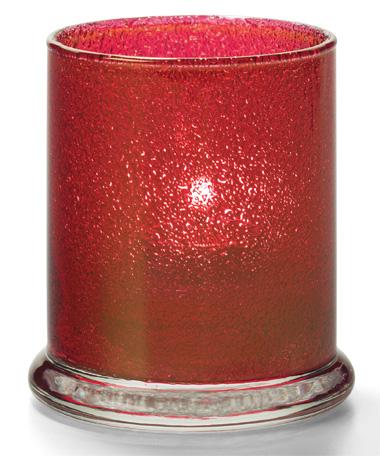 RUBY JEWEL GLASS VOTIVE COLUMN LAMP