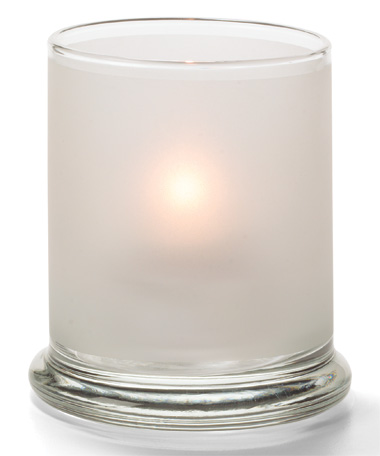 SATIN CRYSTAL GLASS VOTIVE COLUMN LAMP