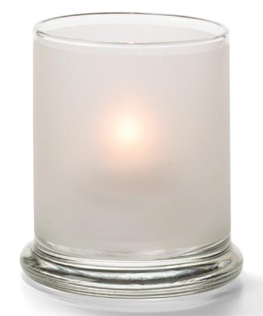 SATIN CRYSTAL GLASS VOTIVE COLUMN LAMP